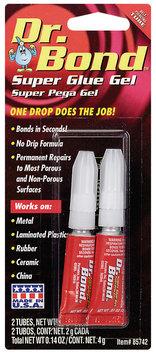 Dr. Bond® 85742 Gel Carded Space-Saver 2-Pack Super Glue 2 G Tube