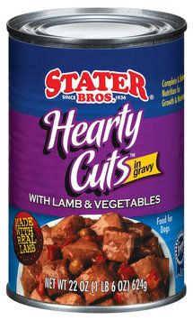 Stater Bros. Hearty Cuts W/Lamb & Vegetables In Gravy Dog Food 22 Oz Can