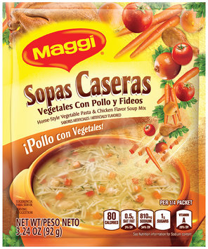 MAGGI Home-Style Vegetable Pasta & Chicken Flavor Soup Mix 3.24 oz. Packet