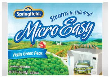 Springfield Petite Green Microeasy Peas 12 Oz Bag