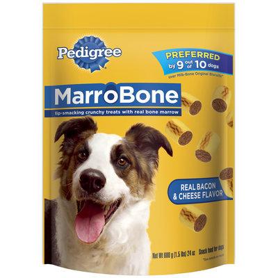 Pedigree Marrobone Real Bacon & Cheese Flavor Dog Care & Treats 24 Oz Stand Up Bag