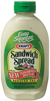 Kraft Specialty Sauces Reduced Fat Easy Squeeze Sandwich Spread 18 Oz Plastic Bottle