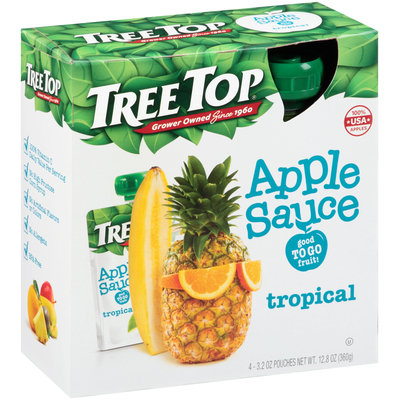Tree Top® Tropical Apple Sauce 4-3.2 oz. Pouches