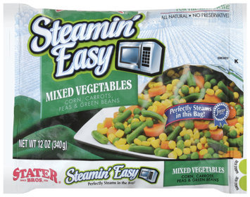 Stater Bros.® Steamin' Easy Mixed Vegetables 12 oz. bag