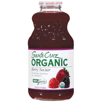 Santa Cruz Organic Berry Nectar Juice 32 Fl Oz Glass Bottle