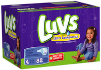 Luvs with Ultra Leakguards Family Pack Size 4 Diapers 82 ct Box