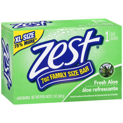 Zest Fresh Aloe Family Size Soap Bar 7 oz. Box