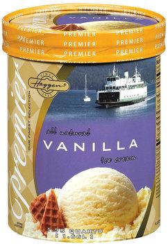 Haggen Vanilla Premier Ice Cream 1.75 Qt Tub