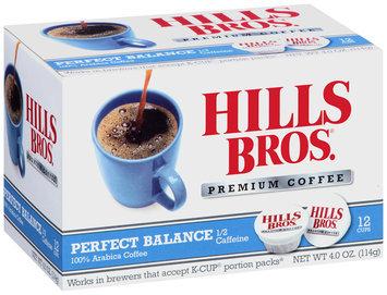 Hills Bros.® Perfect Balance 1/2 Caffeine Premium Coffee Single Serve Cups 12 ct Box