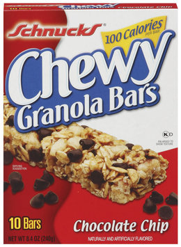 Schnucks Chewy Chocolate Chip Granola Bars 10 Ct Box