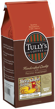 Tully's Coffee Spirited Whole Bean Light Roast Breakfast Blend 12 Oz Stand Up Bag