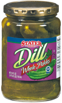 Stater Bros. Whole Dill Pickles 24 Fl Oz Jar