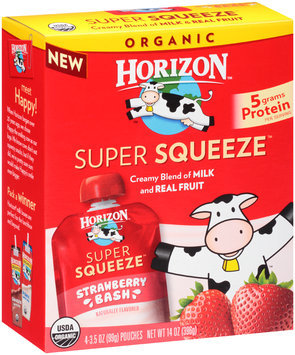 Horizon™ Super Squeeze™ Strawberry Bash Fruit Blend 4-3.5 oz. Pouches