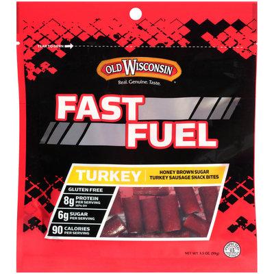 Old Wisconsin® Fast Fuel Honey Brown Sugar Turkey Sausage Snack Bites 3.5 oz. Bag