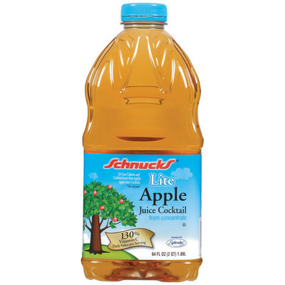 Schnucks Lite Apple Juice Cocktail 64 Oz Plastic Bottle