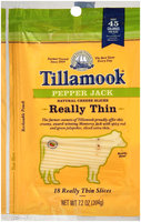 Tillamook® Really Thin Pepper Jack Natural Cheese Slices 18 ct Bag