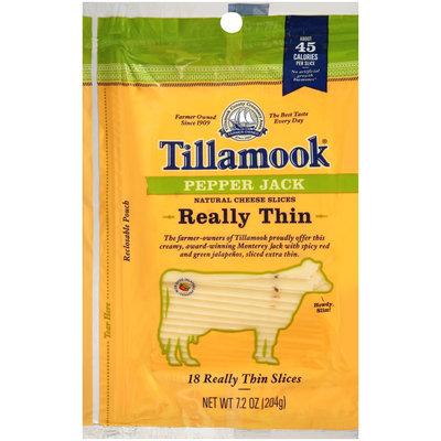 Tillamook® Really Thin Pepper Jack Natural Cheese Slices 18 ct Bag