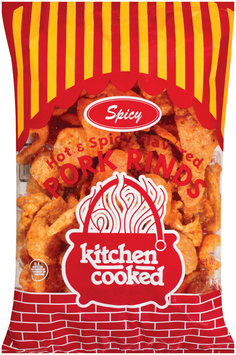 Kitchen Cooked Hot & Spicy Flavored Pork Rinds 5 Oz Bag