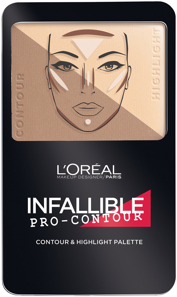 L'Oréal Paris Infallible Pro Contour Palette Light/Clair 0.24 oz. Compact