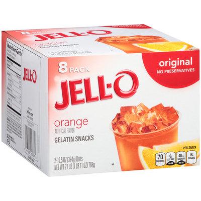 Jell-O Orange Gelatin Snacks 8 ct Box