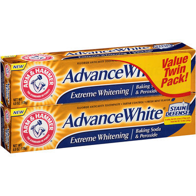 Arm & Hammer® Advance White® Extreme Whitening Baking Soda & Peroxide Fresh Mint Toothpaste 2-6 oz. Cartons