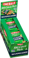 Emerald® Salt & Pepper Cashews 100 Calorie Packs 16-0.62 oz. Bags