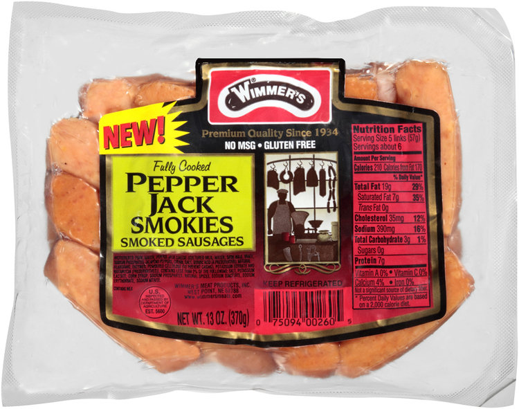 Wimmer's® Pepper Jack Smokies Smoked Sausages