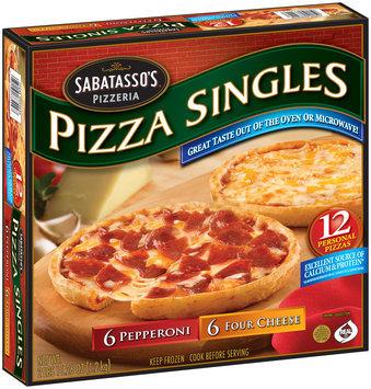 Sabatasso's® Pizzeria Pepperoni/Four-Cheese Thin Crust Pizza Singles 12 ct Box