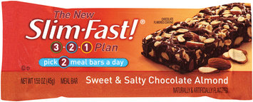 Slim-Fast 3-2-1 Meal Bars Sweet & Salty Chocolate Almond Meal Bar 1.58 Oz Wrapper