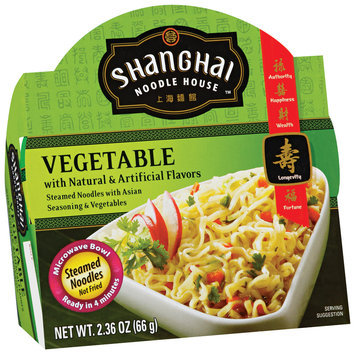 Shanghai Noodle House Vegetable Steamed Noodles 2.36 Oz Microwave Bowl