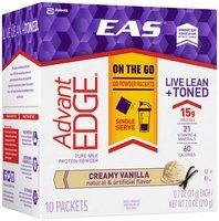 EAS® AdvantEDGE® Creamy Vanilla Pure Milk Protein Powder 10-0.7 oz. Box