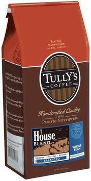 Tully's Coffee Balanced Whole Bean Medium Roast House Blend 12 Oz Stand Up Bag