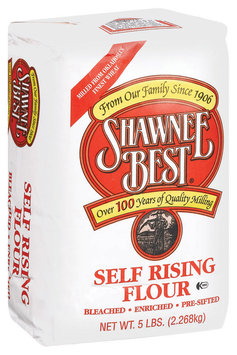 Shawnee Best Self Rising Bleached/Enriched/Pre-Sifted Flour 5 Lb Bag