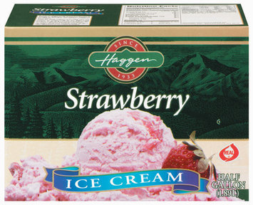 Haggen Strawberry Ice Cream .5 Gal Carton