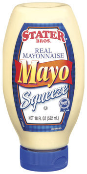 Stater Bros. Real Mayo Squeeze Mayonnaise 18 Oz Squeeze Bottle