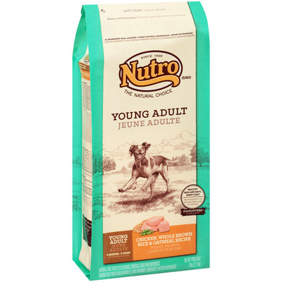 Nutro® Young Adult Chicken, Whole Brown Rice & Oatmeal Recipe Dog Food 5 lb. Bag