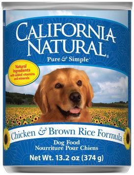 California Natural® Chicken & Brown Rice Formula Wet Dog Food
