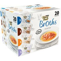 Purina Fancy Feast Broths Classic & Creamy Collection Variety Pack Cat Food 20-1.4 oz. Pouches