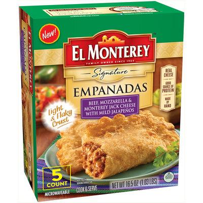 El Monterey™ Signature Beef, Mozzarella & Monterey Jack Cheese with Mild Jalapenos Empanadas 16.5 oz. Box