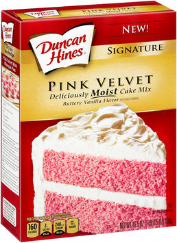 Duncan Hines® Signature Pink Velvet Buttery Vanilla Flavor Cake Mix