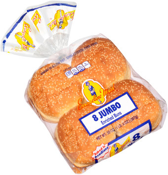 Evangeline Maid® Jumbo Enriched Buns 8 ct Bag