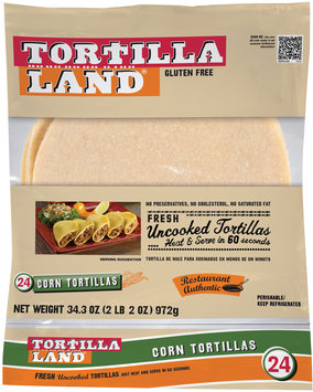 Tortilla Land® Corn Tortillas 24 ct Bag
