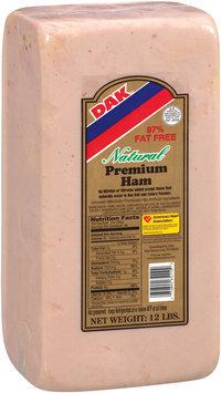 DAK Natural Premium 97% Fat Free Deli Ham 12 LB