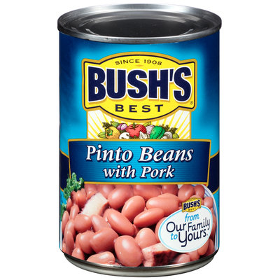Bush's Best® Pinto Beans with Pork 15.5 oz. Can