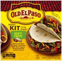 Old El Paso® Soft Taco Dinner Kit 3-12.5 oz. Packages