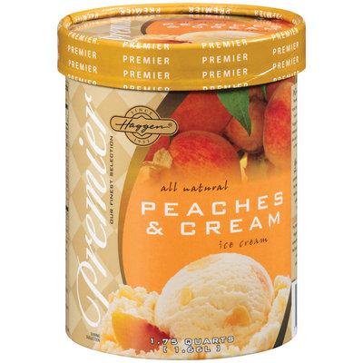 Haggen Peaches & Cream Ice Cream 1.75 Qt Carton