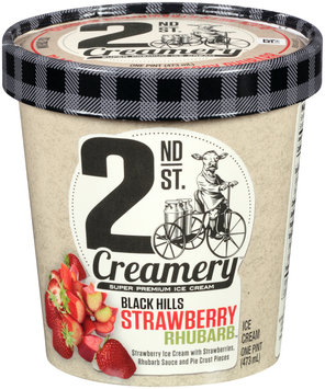 2nd St. Creamery™ Black Hills Strawberry Rhubarb™ Ice Cream 1 pt. Cup
