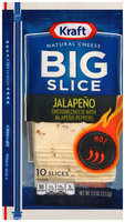 Kraft Big Slice Jalapeno Cheese Slices 10 ct ZIP-PAK®