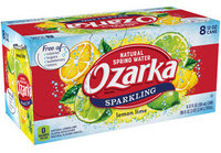 Ozarka Lemon Lime Sparkling Natural Spring Water Cans Pack