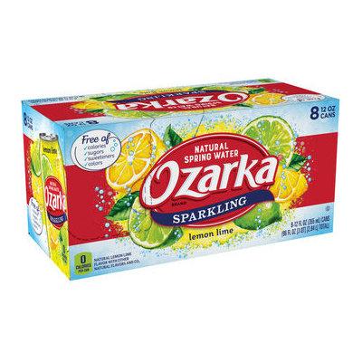 Ozarka Lemon Lime Sparkling Natural Spring Water Cans Pack